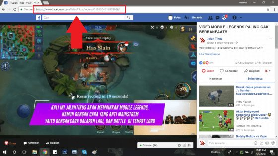 cara download video di facebook 4