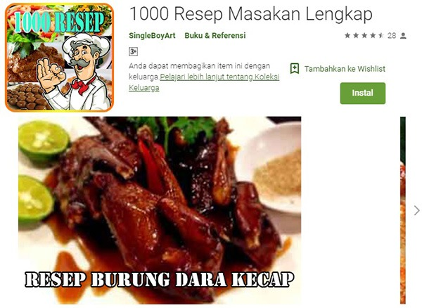 1000 Resep Masakan Lengkap