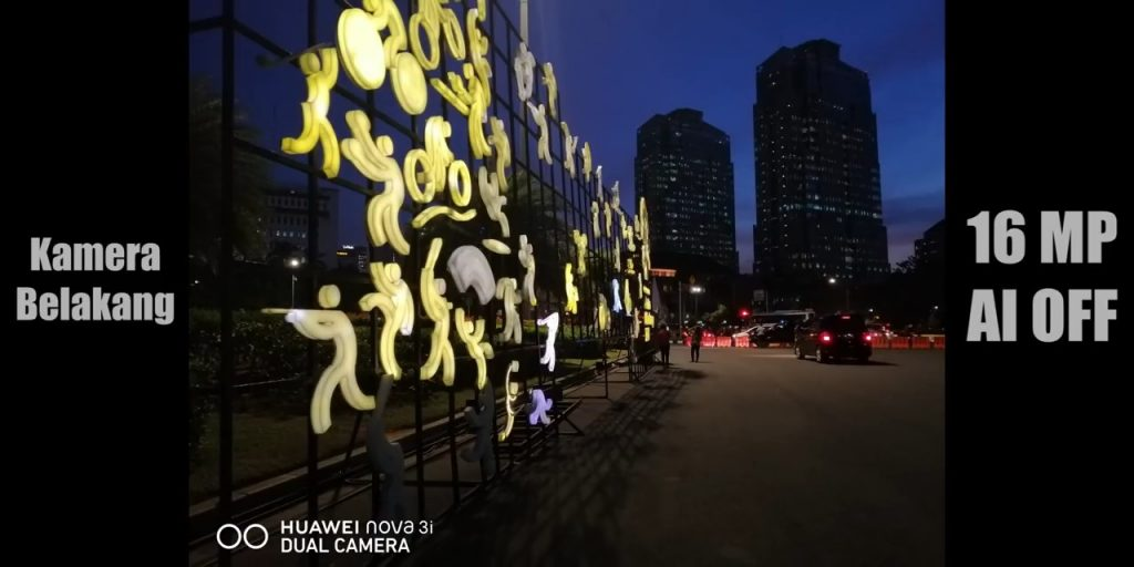 Huawei Nova 3i kamera belakang low light