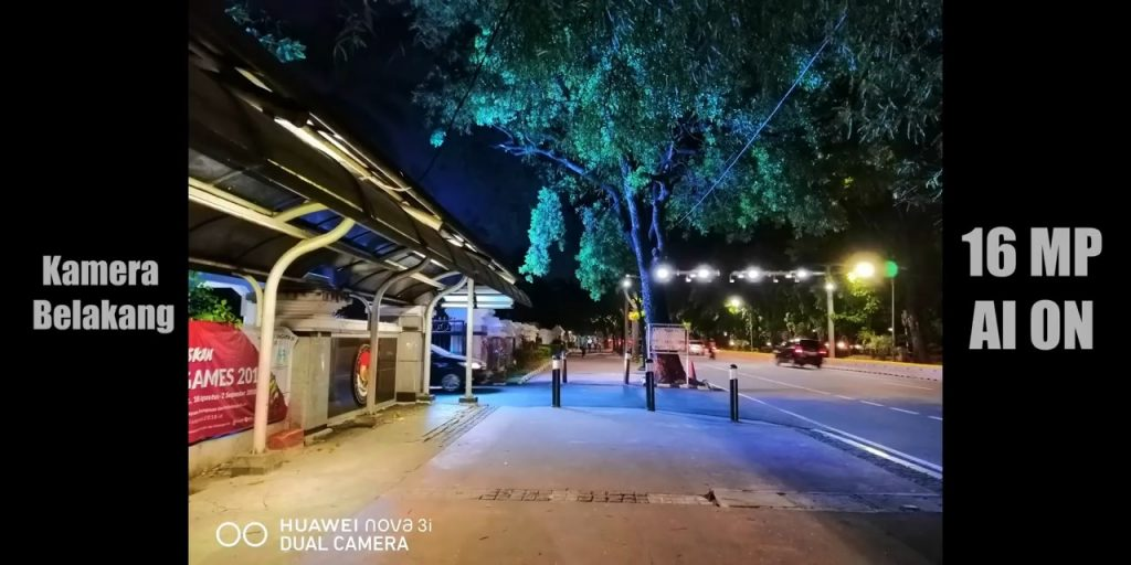 Huawei Nova 3i kamera belakang low light #2