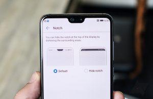 cara menyembunyikan notch android